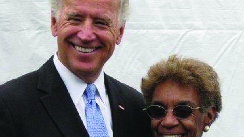 Bettie Anderson and Vice President Biden