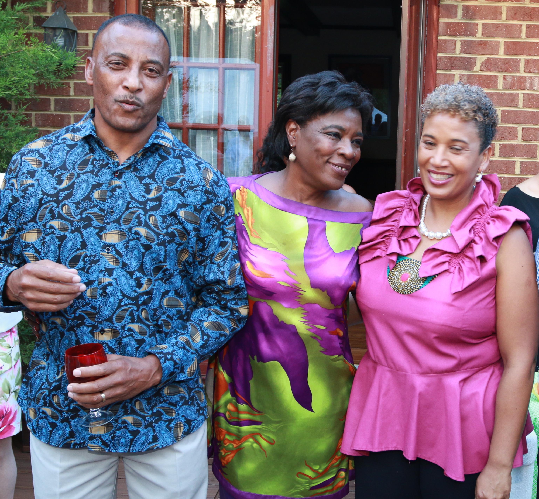 The Myricks Host Reception For S. African Family