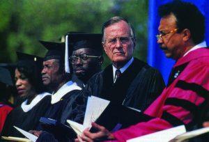 Bush At HU In 1992