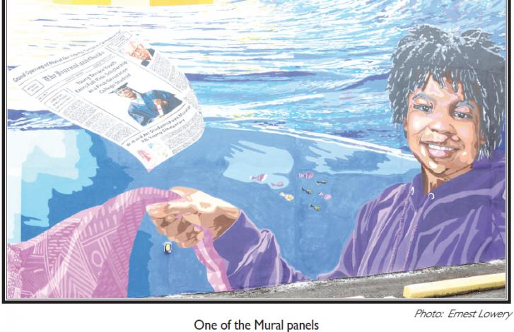 Norfolk Mural Displays Journal & Guide Founder