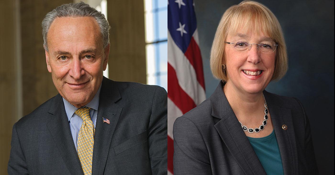 Democratic Senate Minority Leader Chuck Schumer (D-NY) and Senator Patty Murray (D-Washington)