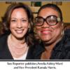 Sun Reporter publisher, Amelia Ashley Ward and Vice President Kamala Harris
