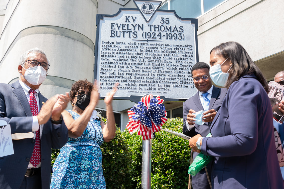 Evelyn Thomas Butts Mile Marker
